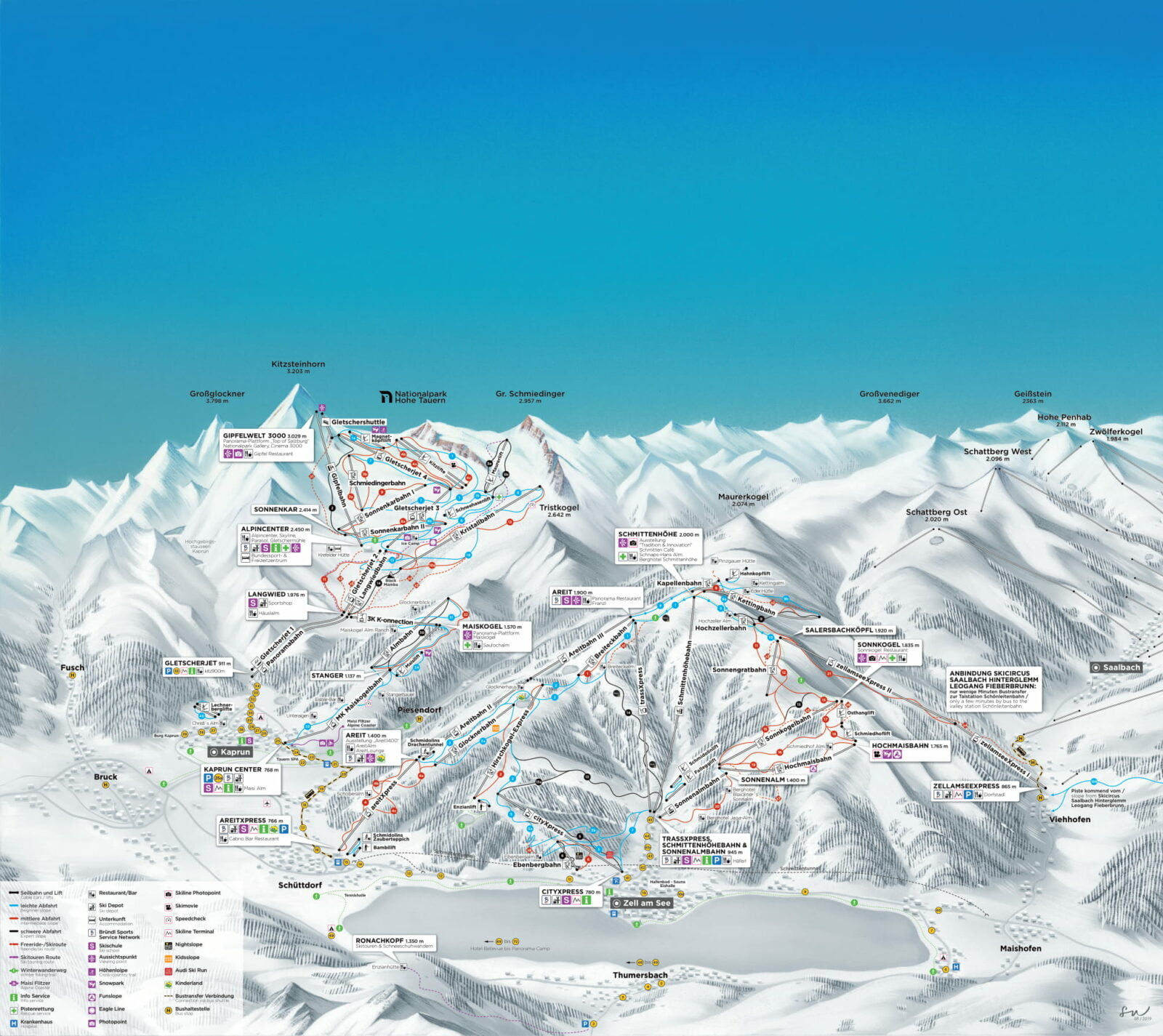 Zell am See - Kaprun map