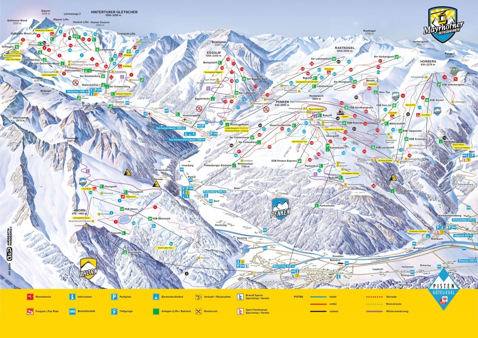 Zillertal 3000 map