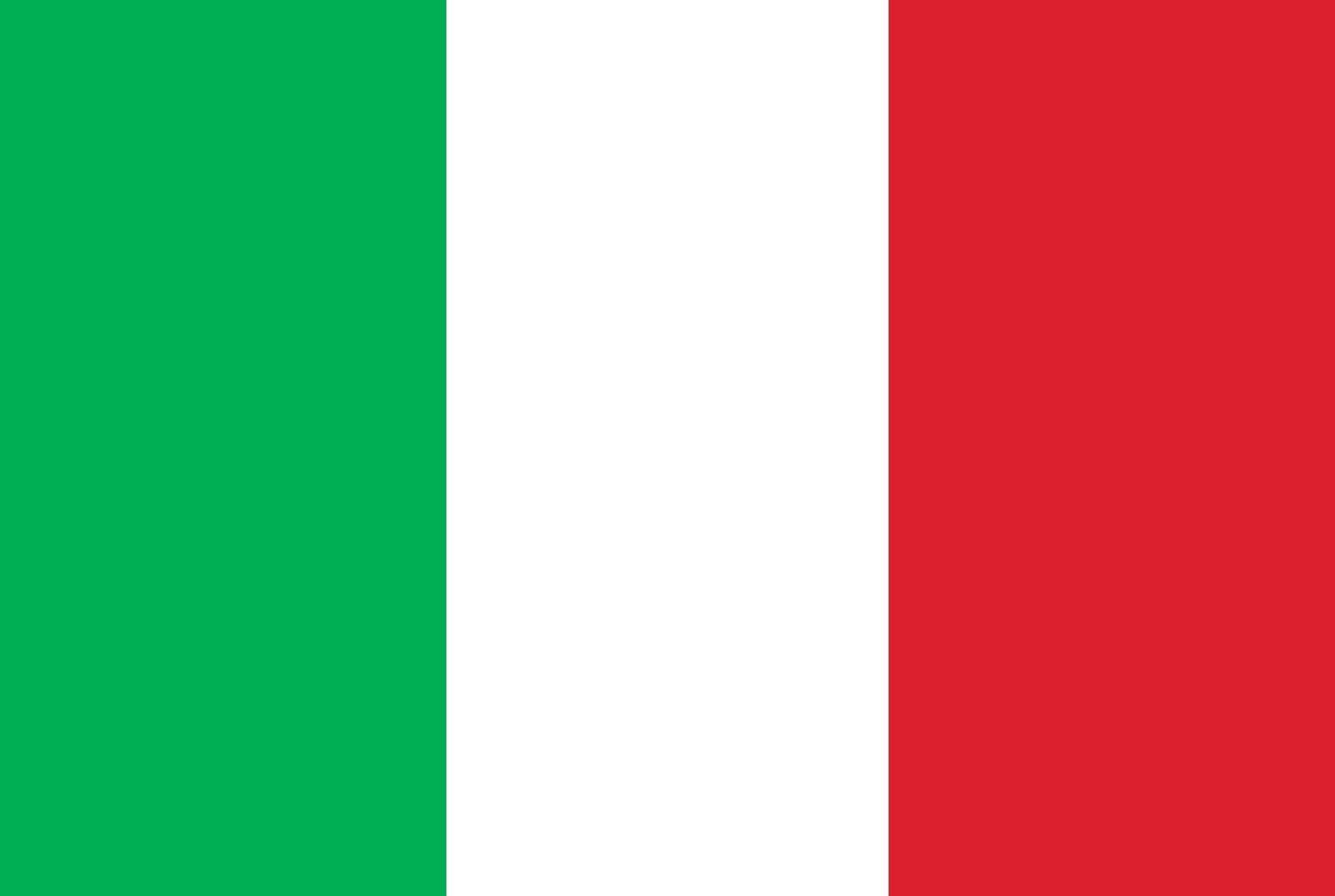 Vlag Italië Opsneeuwvakantie