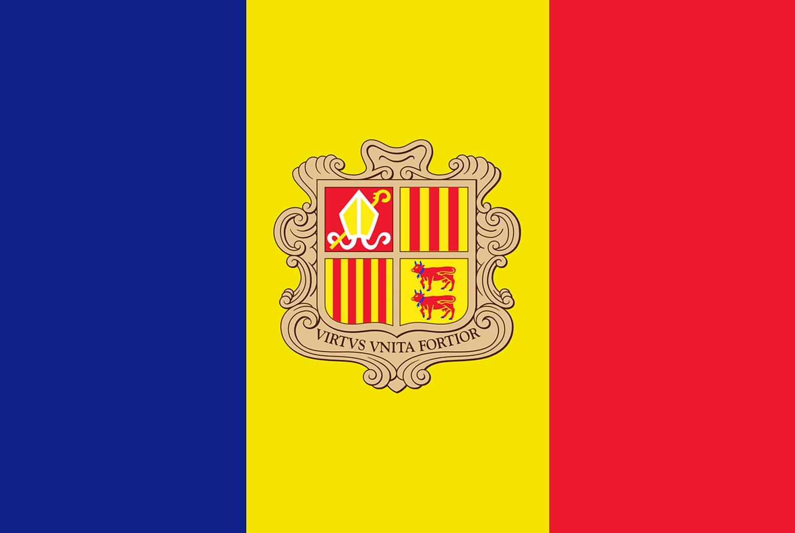 Vlag Andorra Opsneeuwvakantie